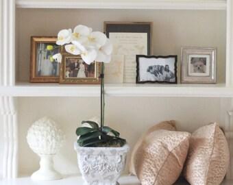 Faux Phalaenopsis Orchid Arrangement, white orchid