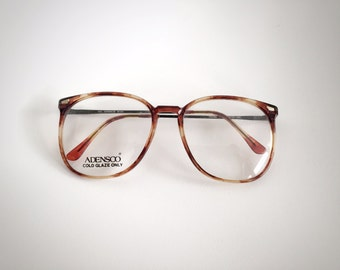 Vintage Adensco Tortoise Eyeglass Frames Made in Japan RX Display Sunglasses Glasses Japanese Hipster Librarian