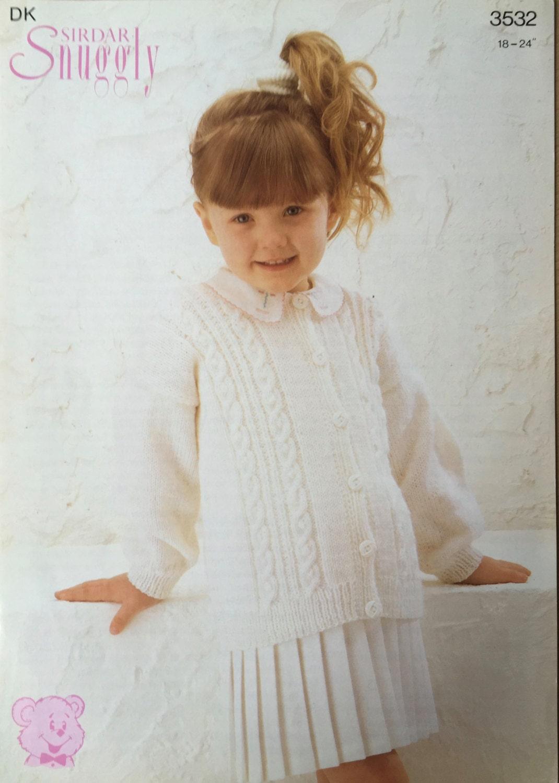 Girls cardigan knitting pattern sirdar knitting pattern sold by usherscraftemporium bankloansurffo Image collections
