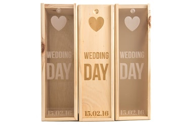 Wooden Wine Box (single) - Wedding day #2