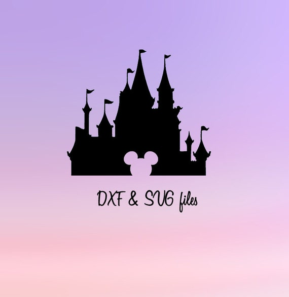 Disney castle svg cut files mickey mouse silhouette dxf mickey ears