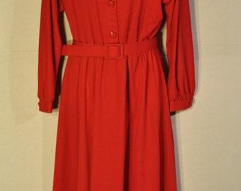 Women's Vintage Red Dress