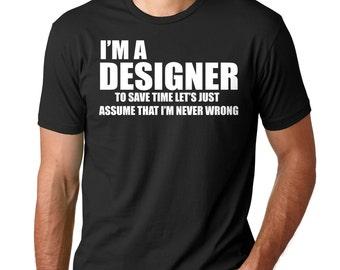Designer T-Shirt Occupation Tee Shirt Gift For Designer Shirt