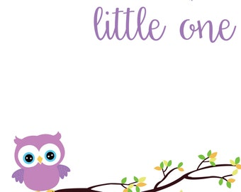 Grow Wise, Little One-Nursery (Girl) Printable