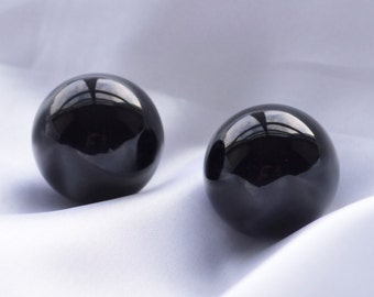 Kegel Exercisers Set (Ben Wa Balls), Drilled with String, Black Obsidian, to Strengthen Pelvic Floor Muscles to Counter Incontinence