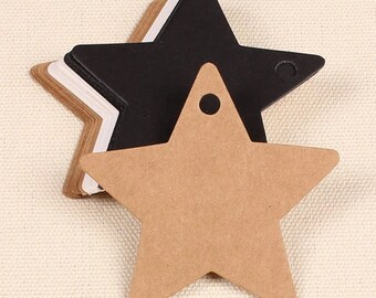 10 Brown or white kraft paper labels