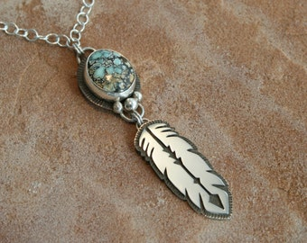 New Landers Turquoise with Feather dangle
