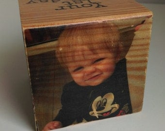 Distressed photo cube, Personalised photo cube, Personalised gift, Gift For baby, Gift for him, Gift for her, Birthday gift, Anniversary