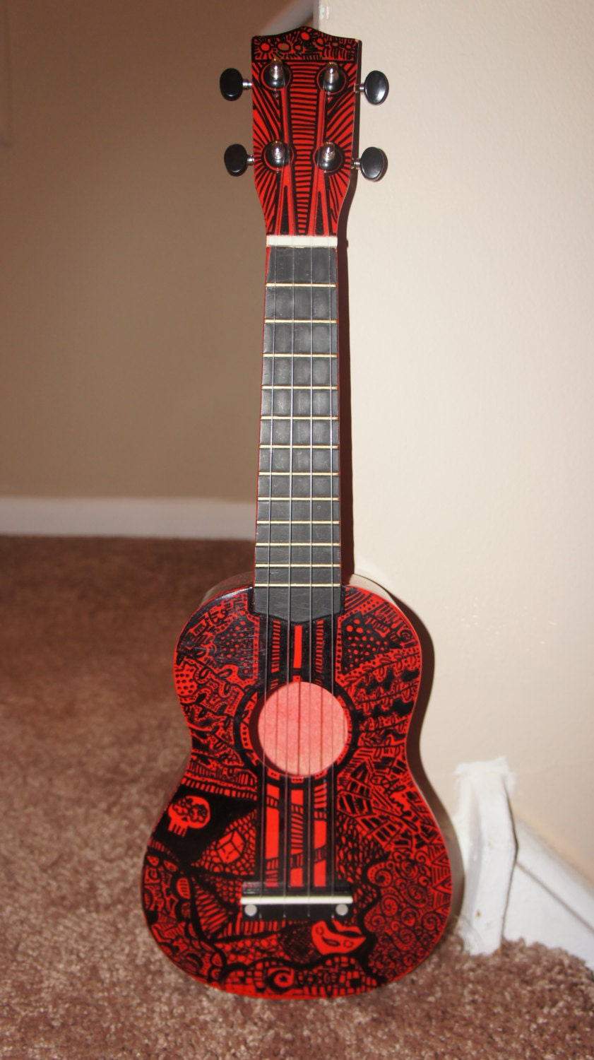 Hand decorated ukulele 21 for Decoration ukulele