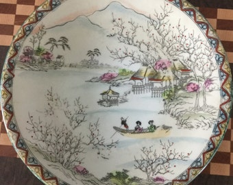 Vintage Plate from the Meiji Period, made in Japan.
