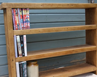 Reclaimed wood shelving unit - handmade