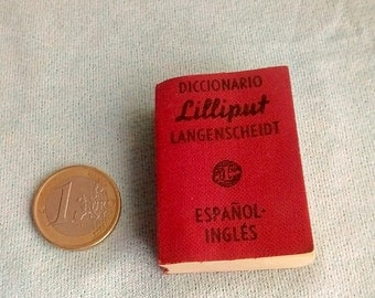 Small dictionary Spanish - English, LILLIPUT, ed. Langenscheidt collection.