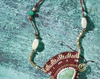bohemian long beautiful necklace