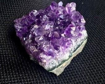 Vibrant Amethyst Cluster // Uruguay // Deep Purple Quartz // Crown Chakra // Zen Meditation // Healing Stone // Rainbows