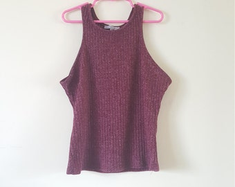 90's ribbed high neck tank