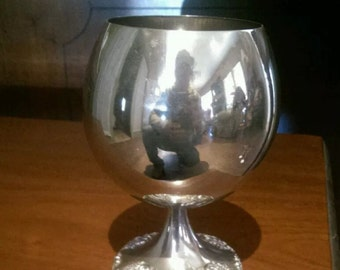 Wallace Silverplated Wine Goblet