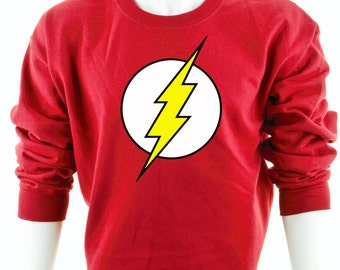 The Flash Sweatshirt DC Comics Superhero Jumper Unisex Red Green Arrow Crossover