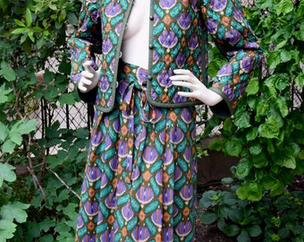 YVES SAINT LAURENT Rive Gauche 1970 Quilted  Suit
