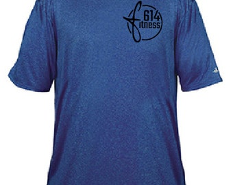Badger Pro Heather 614Fitness Performance Shirt- Royal Heather