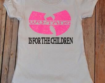 Wutang shirt, onesie, for girls or boys.