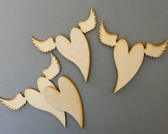 5 sets Winged Hearts (unpainted original art)