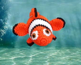 Clown Fish crocheted toy