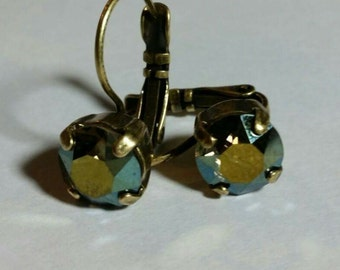 Swarovski Drop Earrings (Color: AB/Jet in Primary photo)
