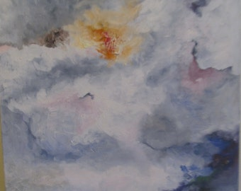 Storm, an original oil on canvas