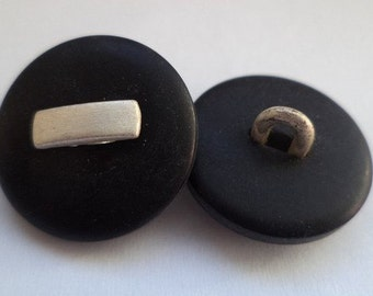 12 buttons Black Silver 18mm (97)