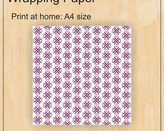 A4 wrapping paper - Jamberry - Digital PDF file