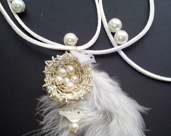 A Birds nest necklace