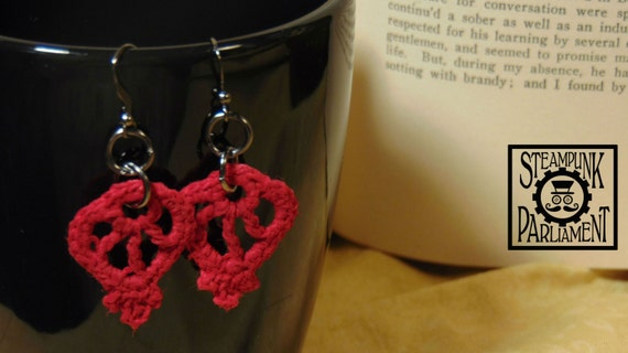 Teardrop Crochet Lace Earrings
