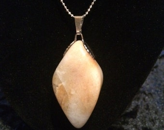 Natural Tumbled Stone Necklace 132-S-30-AG-Ch