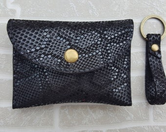 Leather Coin Purse & Keyring