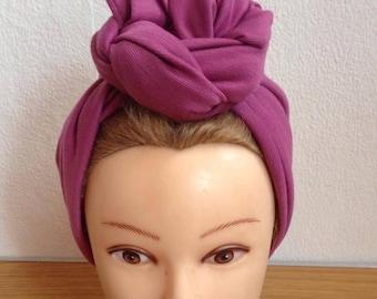 Dusky Pink Pre-sewn Turban