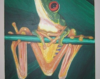 Red eyed tree frog painting