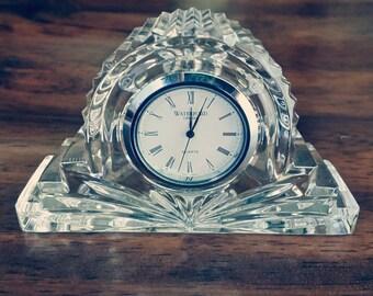 Waterford Crystal Clock, mantle clock, crystal clock, Waterford clock, decor clock, lead crystal, desk clock, small clock