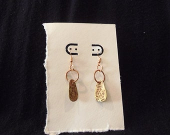 Copper and Brass dangle earrings