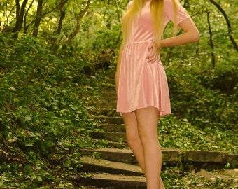 Pink corduroy (velvet) dress (SS16)