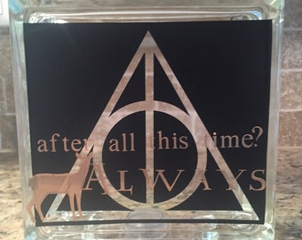 Harry Potter Professor Snape Glass Block Home Decor