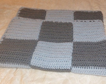 Checkered Crochet Baby blanket