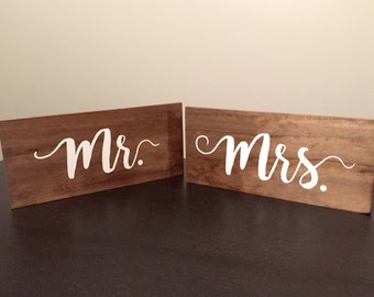 Wooden Mr. and Mrs. Chair Signs (for weddings)
