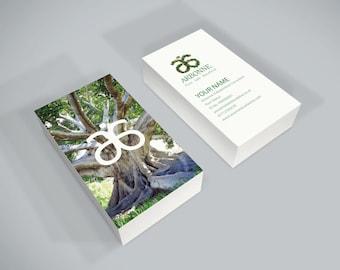 Arbonne Portrait Tree Design Business Card Unique Unusual