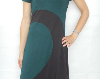 Jersey dress, wave pattern, summer dress
