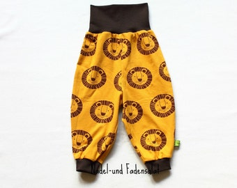 Baby Pants, Baby Harem Pants, Gender neutral Baby Pants, toddler Harem pants, Pants with Lions