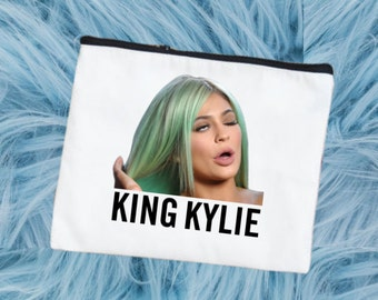 NOW AVAILABLE!! King Kylie Makeup Bag. Cosmetic Bag. Toiletry Bag. HELLOSOOKIE
