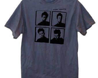 Photo Collage - Tom Waits vintage look over-dyed t-shirt