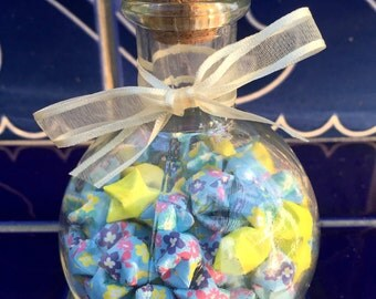 Round Apothecary-Style Jar of Origami Lucky Stars
