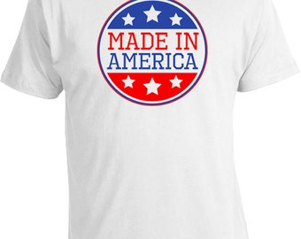 Funny America Shirt Patriotic Clothing Fourth Of July Clothing USA T Shirt Murica July 4 Made In America T Shirt Mens Ladies Tee FAT-121
