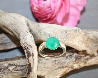 JALNA - Green Onyx ring